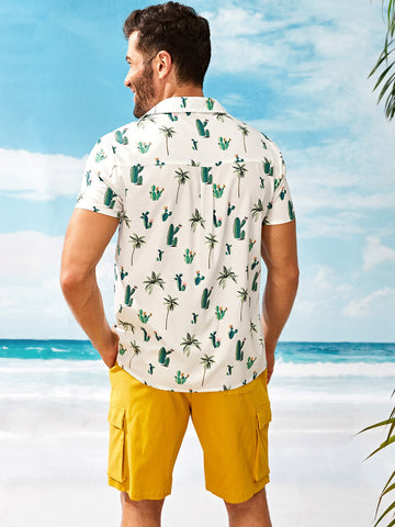 Cactus Front Pocket Shirt