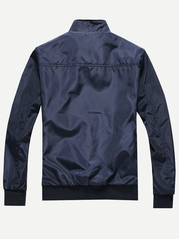 Men Plain Jacket (Navy)
