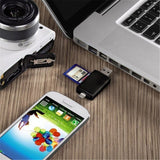Multi-Function OTG Card Reader Micro SD / SD Card / USB Reader - ISLAND63