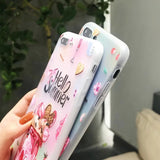 3D Relief Ice Cream Hello Summer Phone Case For iPhone 7 8 Plus X 7 6 6S Plus TPU Back Cover - ISLAND63