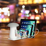 5 Ports USB 3.0 Quick Charger Mushroom Table Lamp - ISLAND63
