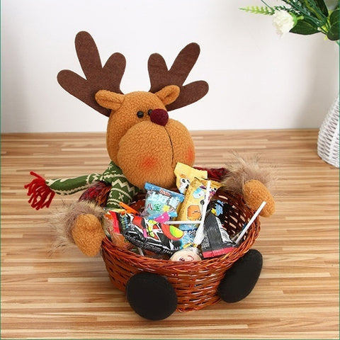 Christmas Candy Basket elk
