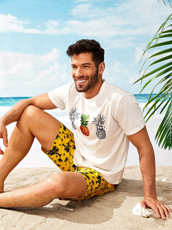 Pineapple Print T-shirt - ISLAND63