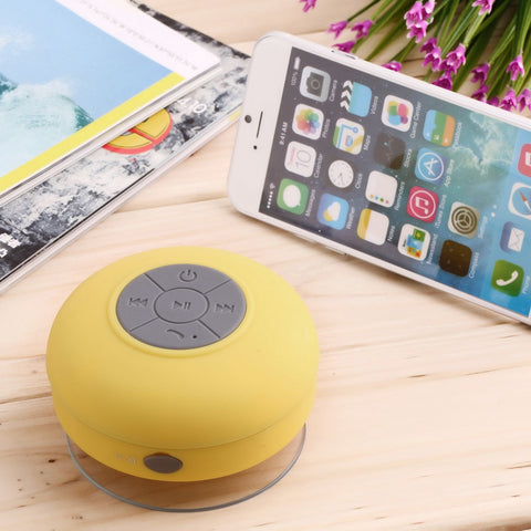 Waterproof Bluetooth Wireless Shower Speaker with Built-in Microphone