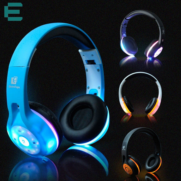 Fashion LED Bluetooth Over-ear Foldable Stereo Headphone - ISLAND63