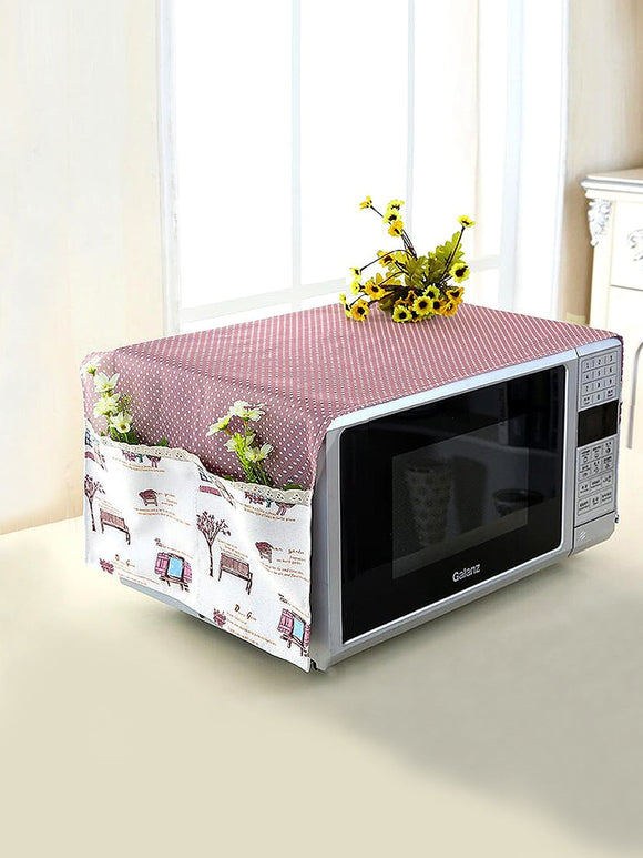 Polka Dot Microwave Oven Dust Cover - ISLAND63
