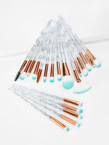 20pcs Crystal Makeup Brush Set - ISLAND63