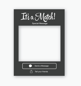 It's A Match Frame Photo Booth Prop. Free Shipping With Every Order