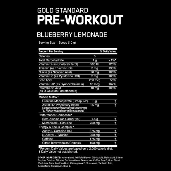 Optimum Nutrition Gold Standard Pre Workout For Life
