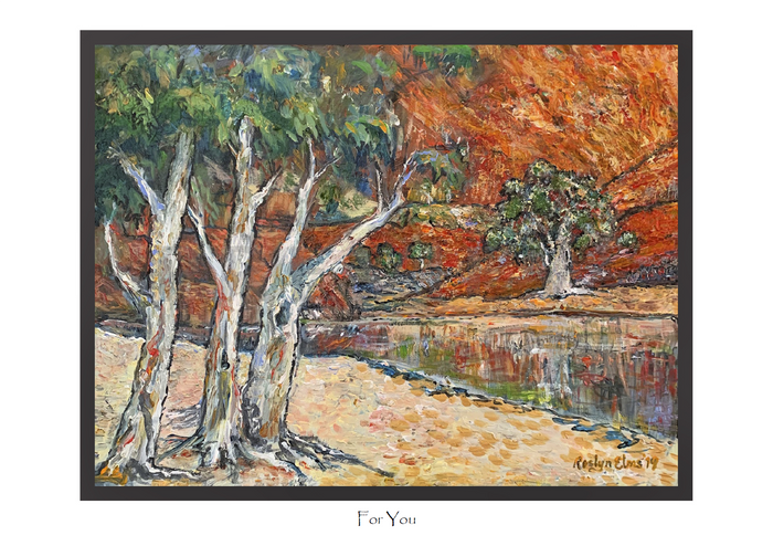 Greeting and Gift Cards Pack of 5 Cards - Impressions of Ormiston Gorge - For you