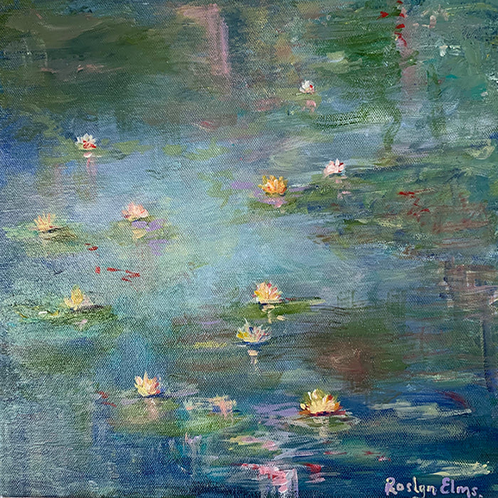 'Waterlilies on Pond'  -  Original Painting