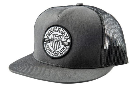 CHARCOAL TRUCKER HAT - SNAPBACK - Wide Open Vault