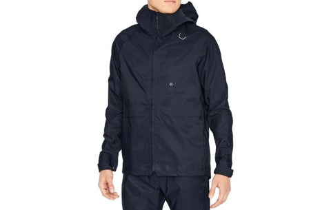 2019 Commuter Mens Oslo Rain Jacket - Navy Black - MED