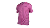TRAIL LIGHT ZIP TEE - SULFUR PINK