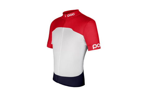 Raceday Climber Jersey Bohrium Red/Hydrogen White - Large