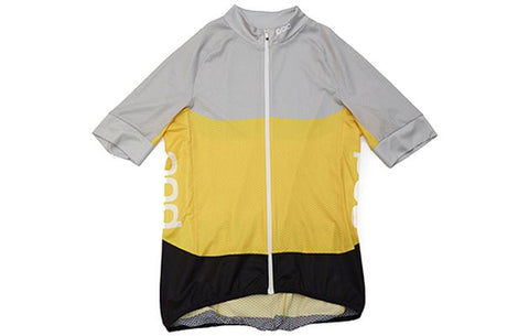 2019 Essential SS Light Jersey - Grey / Yellow - MED - Wide Open Vault