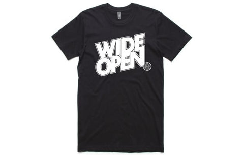 WIDE OPEN T - MEN BLK/WHITE