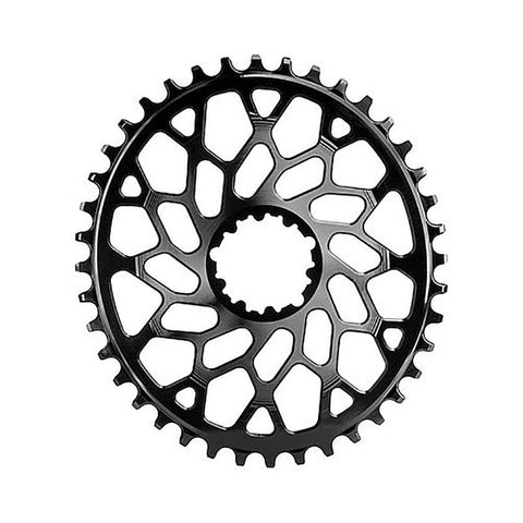 Oval SRAM CX GXP and BB30 44T Black - Wide Open Vault