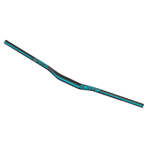 Blacklabel 800 x 25mm, 31.8 Clamp - Black w/Turquoise - Wide Open Vault