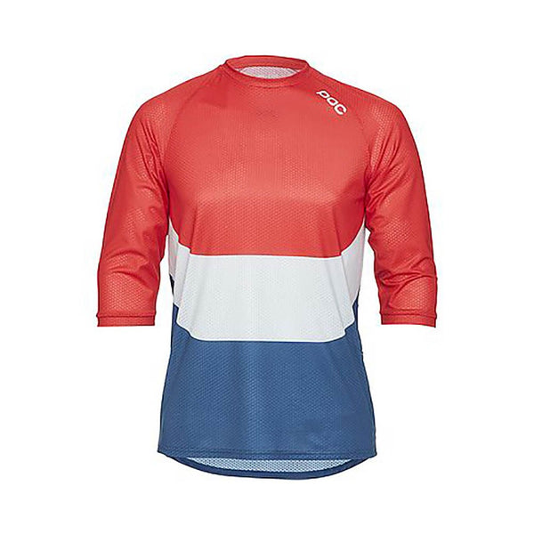Essential Enduro 3/4 Jersey - Prismane Multi Red - SML - Wide Open Vault