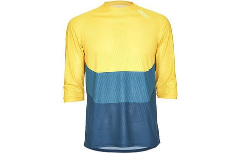 Essential Enduro 3/4 Jersey - Sulphite Multi Yellow - Wide Open Vault