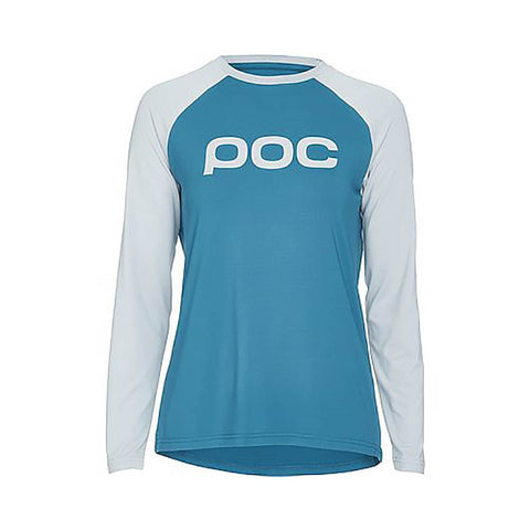 Essential MTB Women's Long Sleeve Jersey  - Antimony Blue/Oxolane Grey