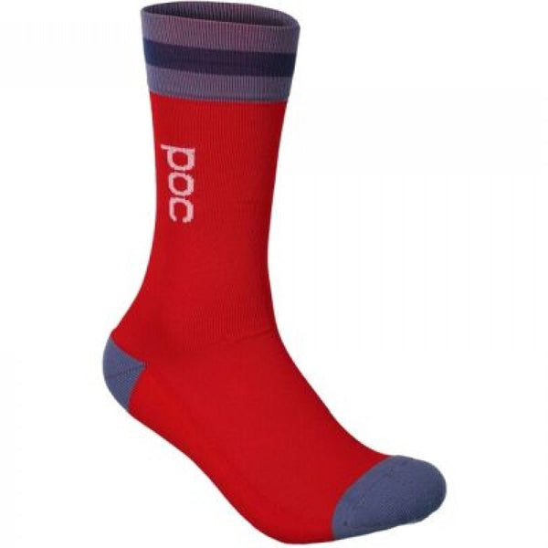 Essential Mid Length Sock - Calcite Blue/Prismane Red