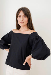 Maude Top - black poplin