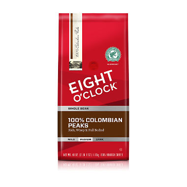 Eight O'Clock Whole Bean Colombian Coffee - 40 oz.