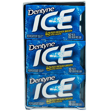 Dentyne Ice Peppermint Sugar Free Gum (16 ct., 12 pks.)