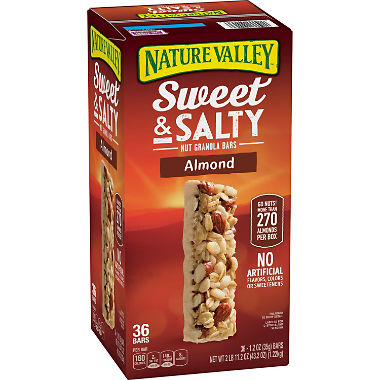 Nature Valley Sweet & Salty Almond Granola Bars (1.2 oz. bars, 36 ct.)