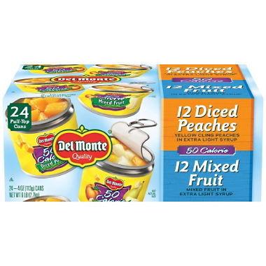 Del Monte Lite Fruit Cups Variety (4 oz., 24 ct.)