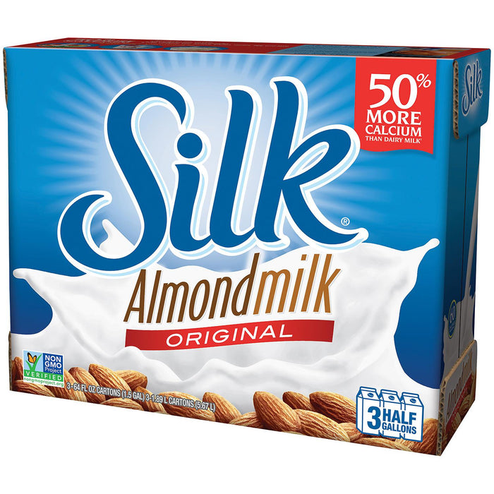 Silk Pure Almond Original Almond Milk (64 oz., 3 pk.)