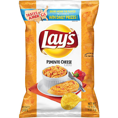 Lay's Pimento Cheese Flavored Potato Chips (15.25 oz.)