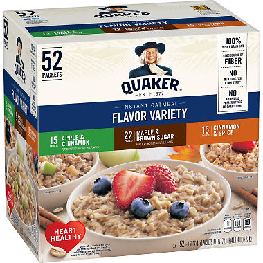 Quaker Instant Oatmeal Variety Pack (52 pk.)