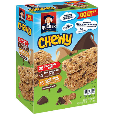 Quaker Chewy Variety Pack (60 pk.)