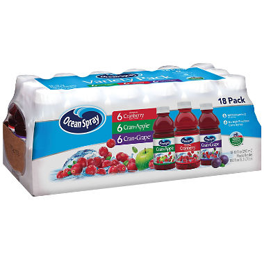 Ocean Spray Juice Drink Variety Pack (10 oz., 18 pk.)