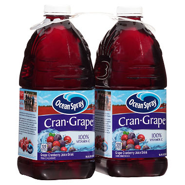 Ocean Spray Cran-Grape Juice Drink (96 oz., 2 pk.)