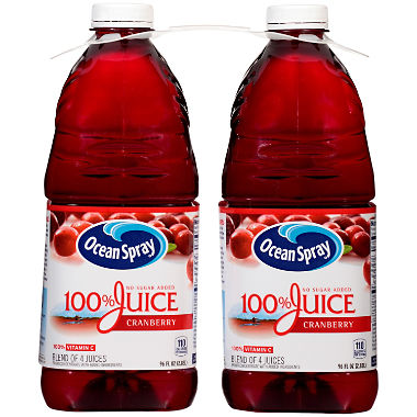 Ocean Spray 100% Cranberry Juice (96 oz., 2 pk.)