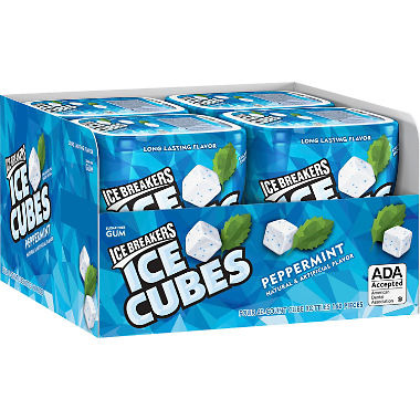 Ice Breakers Ice Cubes Gum Peppermint (40 ct., 4 pks.)