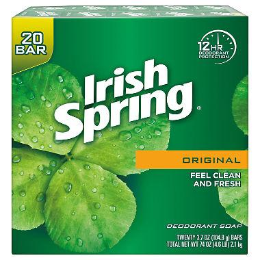 Irish Spring Deodorant Soap (3.7 oz., 20 ct.)