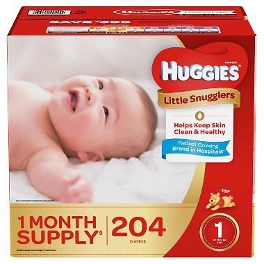 Huggies Little Snugglers Diapers, Size 2 (12 - 18 lbs.) - 186 ct.