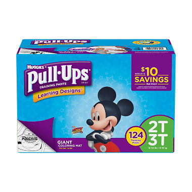 Huggies Pull-ups Training Pants for Boys, M 2T - 3T (124 ct.)