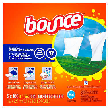 Bounce Fabric Softener Dryer Sheet Outdoor Fresh (160 ct.)