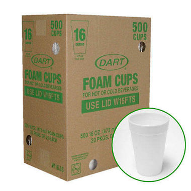 Dart?? Foam Cups - 500/16 oz.