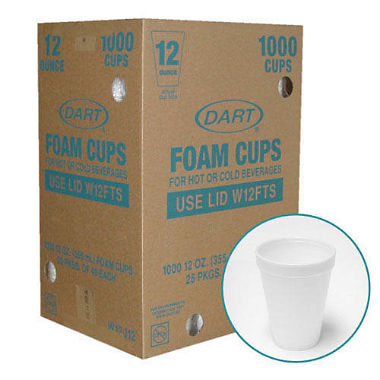 Dart?? Foam Cups - 1000/12 oz.