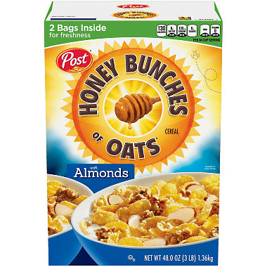 Post Honey Bunches of Oats with Crispy Almonds (48 oz.)