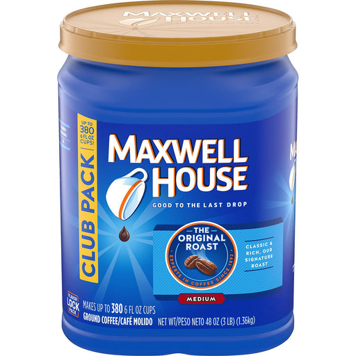 Maxwell House Ground Coffee, Orginal Roast (48 oz.)