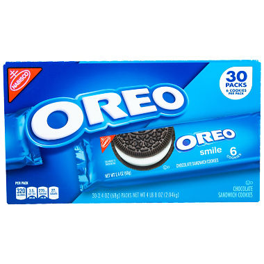 Nabisco Oreo Chocolate Sandwich Cookies (2.4 oz., 30 ct.)