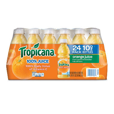 Tropicana 100% Orange Juice (10 oz., 24 pk.)